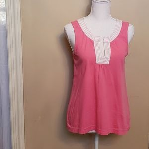 Lilly Pulitzer pink and white tank top, size XS